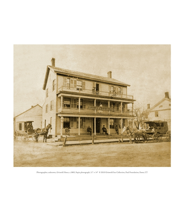Griswold House Sepia Photograph