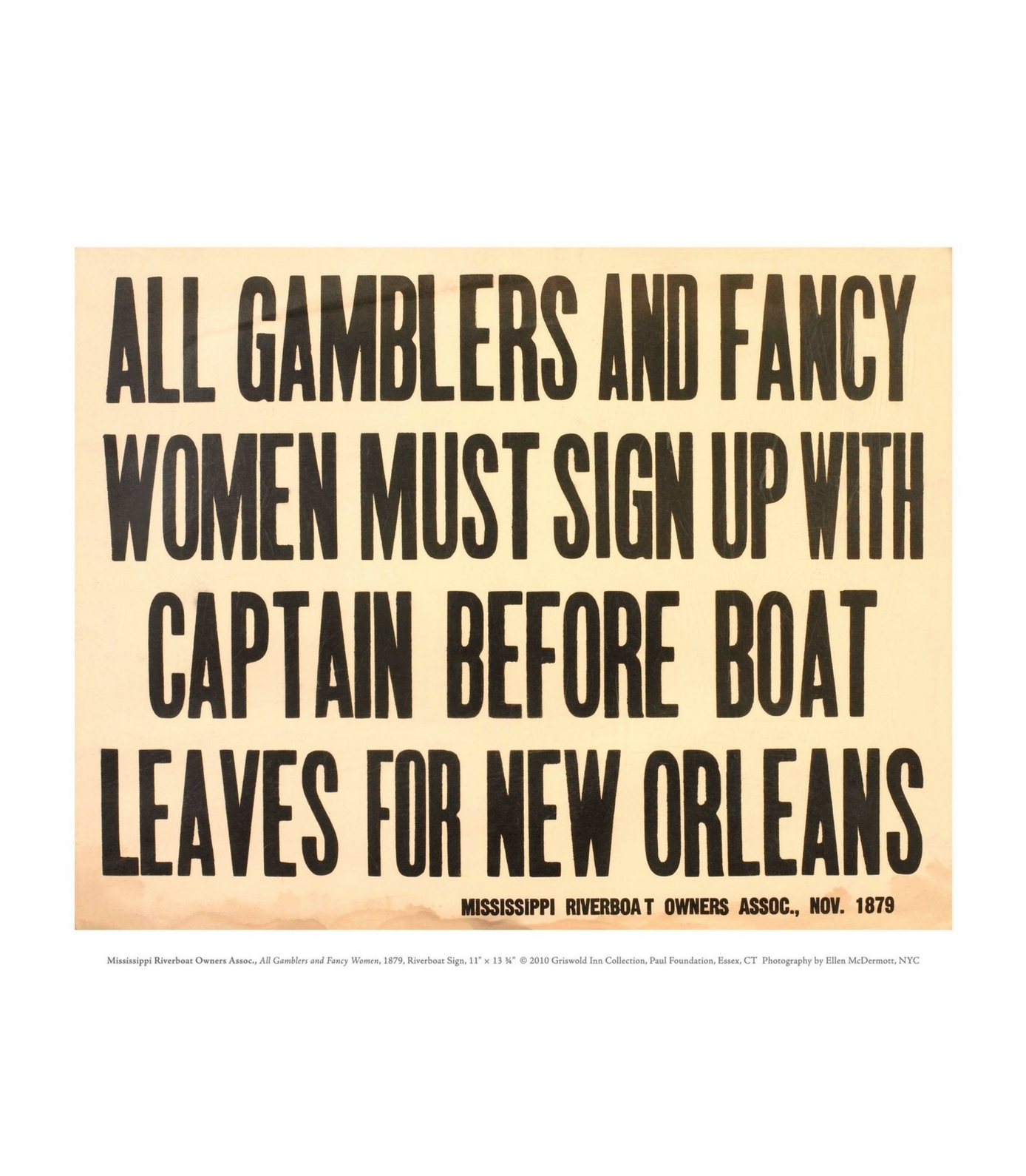 All Gamblers and Fancy Women Print