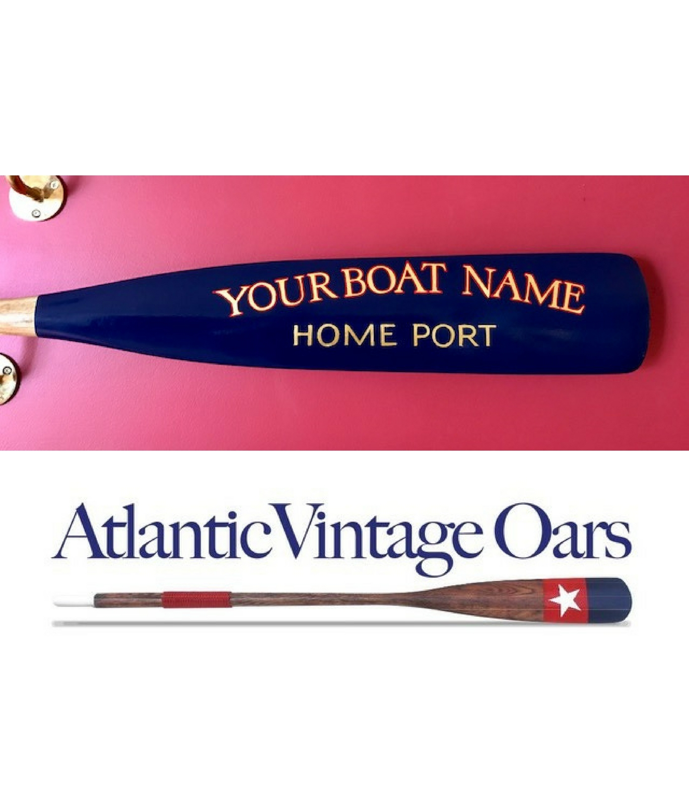 "Custom ""Home Port"" Oar"