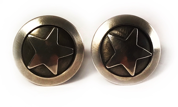 Silver Star Cuff Links
